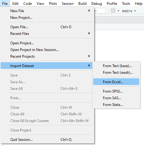Import Excel file into RStudio