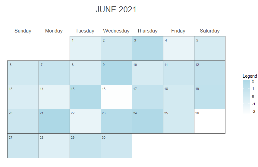 ggplot2 heatmap calendar with legend
