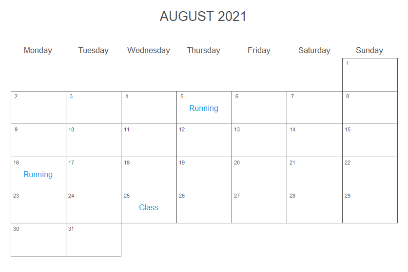 Add text to the days of a ggplot2 calendar
