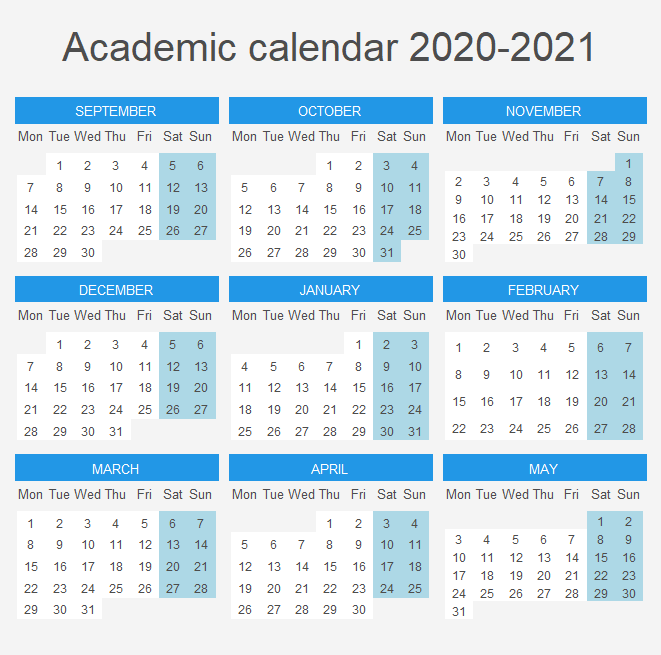 Academic calendar in R ggplot2