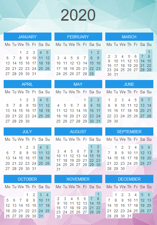 Calendar in R with background image