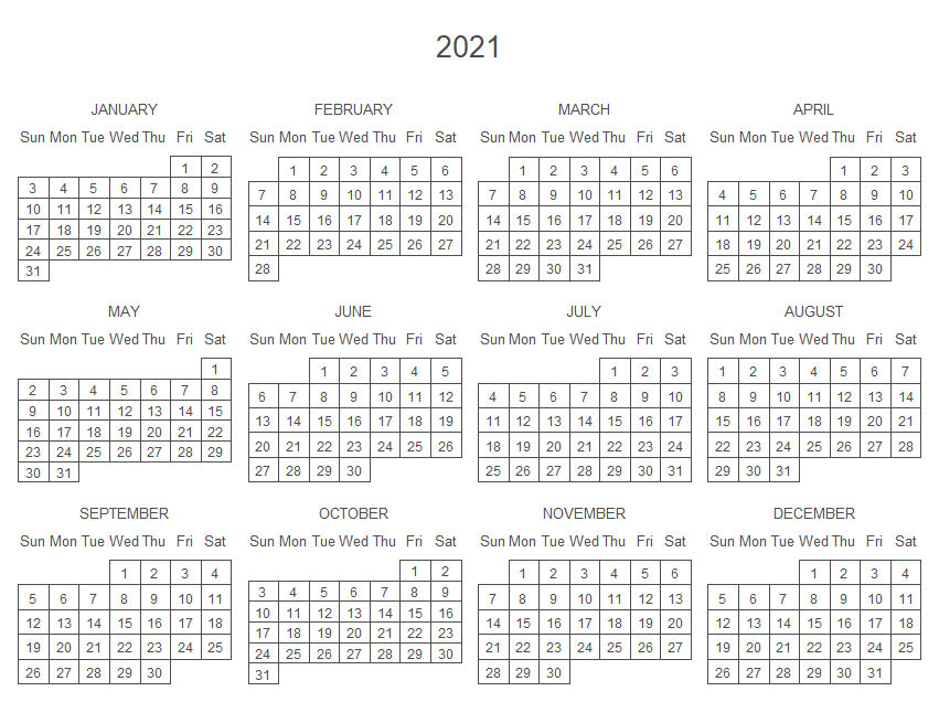 Calendar plot in R with the calendR package