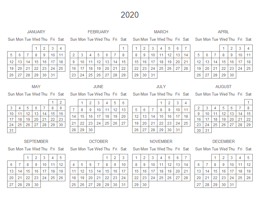 Yearly calendar plot in R